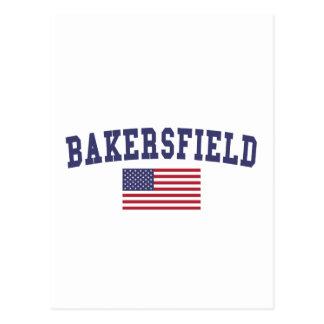 Bakersfield US Flag Postcard