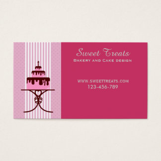 Bakery and cake design, Sweet Treats Business Card