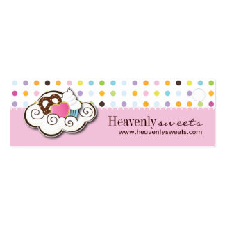 Bakery and Cupcake Packaging Tags Business Card Templates