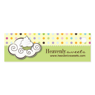 Bakery and Cupcake Packaging Tags Business Card