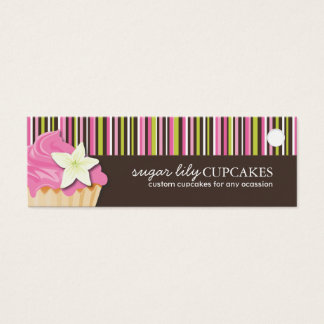 Bakery and Cupcake Packaging Tags Mini Business Card