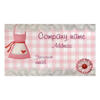 Bakery apron checkered Double-Sided standard business cards (Pack of 100)