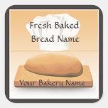 Bakery Baked Bread Label Sticker Square Sticker