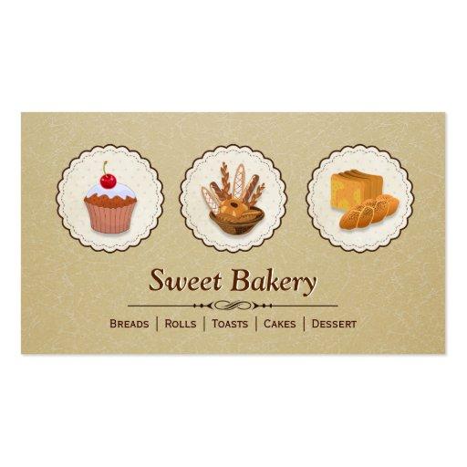 Bakery Baker - Breads Rolls Toasts Cakes Dessert Business Card