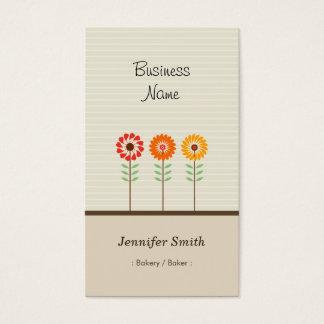 Bakery / Baker - Cute Floral Theme Business Card