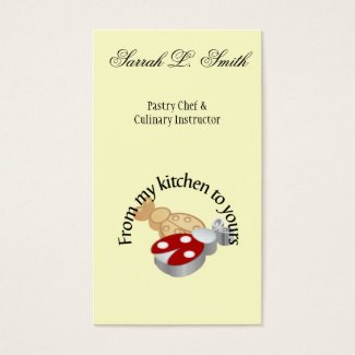 Bakery & Baker Pastry Chef Business Card