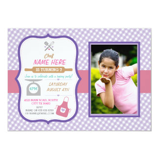 Bakery Baking Any Age Birthday Party Girls invite