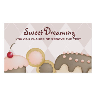 bakery baking cupcake cookies cake business car... Double-Sided standard business cards (Pack of 100)