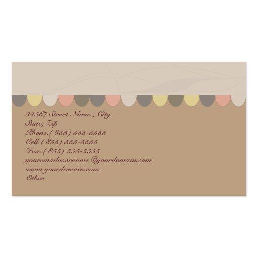 Bakery Biscuit Shop Business Card (back side)