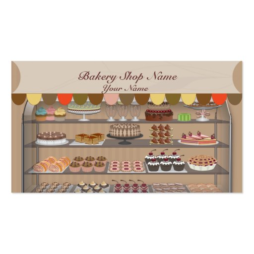 Bakery Biscuit Shop Business Card (front side)