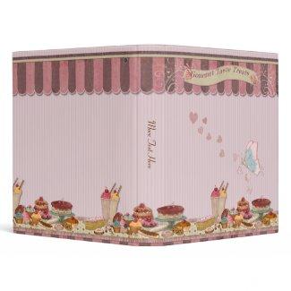 Bakery Boutique Cakes & Patisserie Binder zazzle_binder