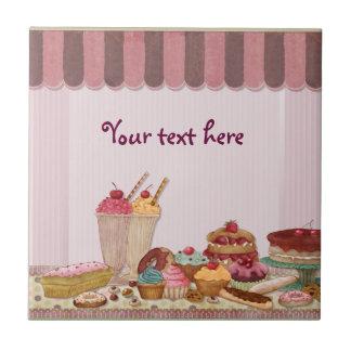 Bakery Boutique Cakes - Patisserie - Customize Ceramic Tile