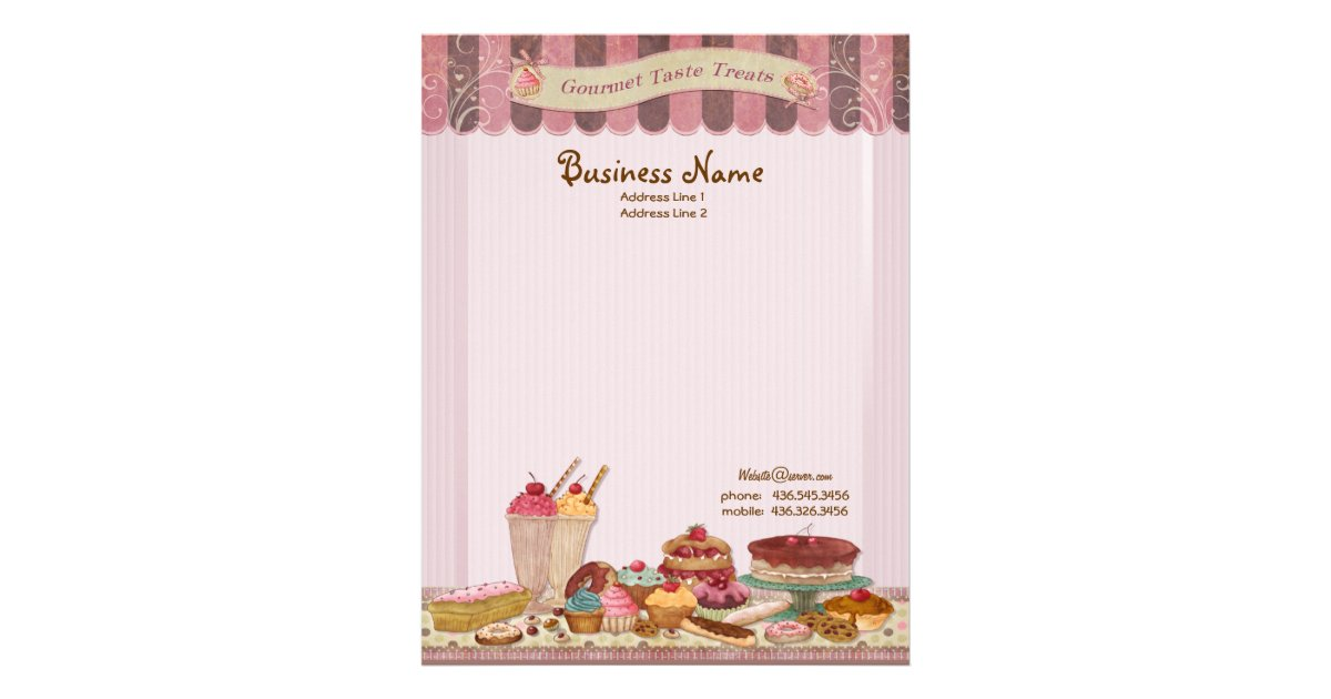 Bakery Boutique Cakes Amp Patisserie Letterhead Zazzle Com