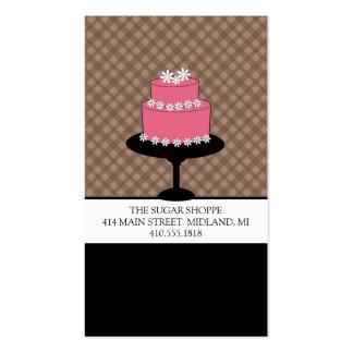 Bakery Boutique Style Mocha Plaid Business Cards