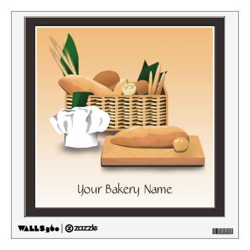 Bakery Bread Basket Wall Decal