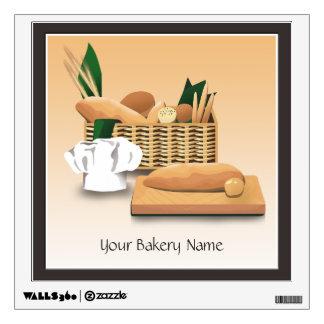 Bakery Bread Basket Wall Decal