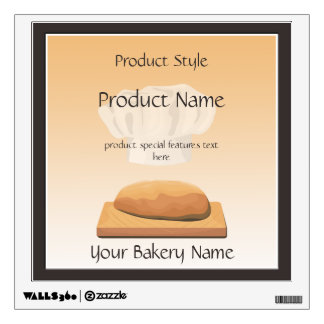 Bakery Bread Product Wall Decal