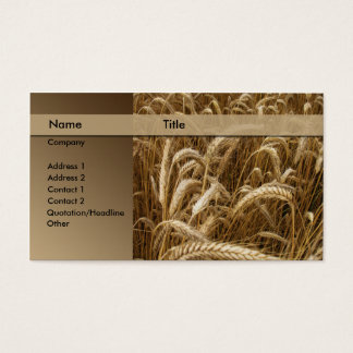 bakery / brewery business card