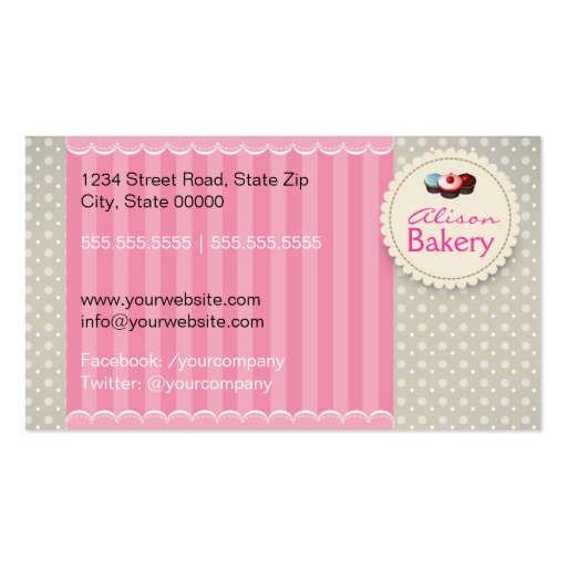Bakery Business card (back side)