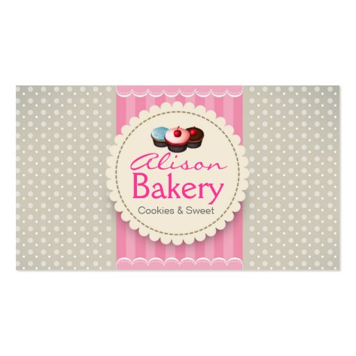 Bakery Business card (front side)