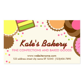 Browse the Bakery Business Cards Collection and personalize by color, design, or style.