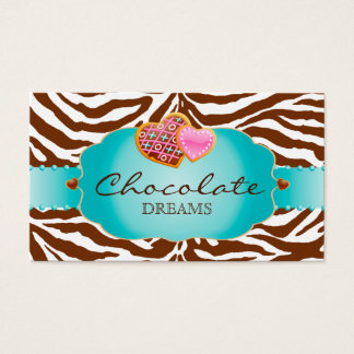 Bakery Business Card Chocolate Cookies blue