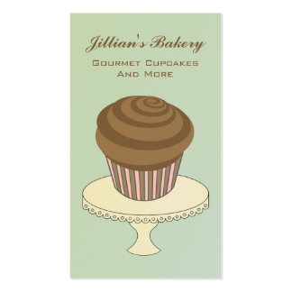 Bakery Business Card - Chocolate Cupcake