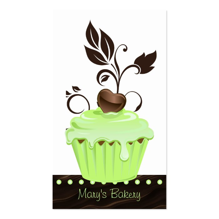 Bakery Business Card cute cupcake mint chocolate 2