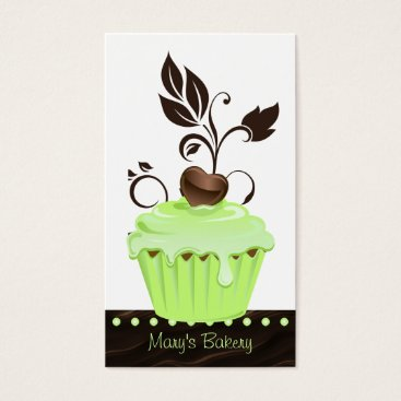Professional Business Bakery Business Card cute cupcake mint chocolate 2