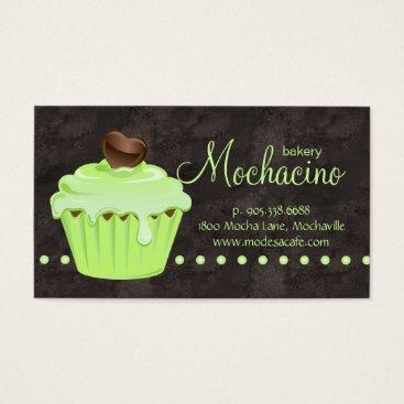 Professional Business Bakery Business Card cute cupcake mint green