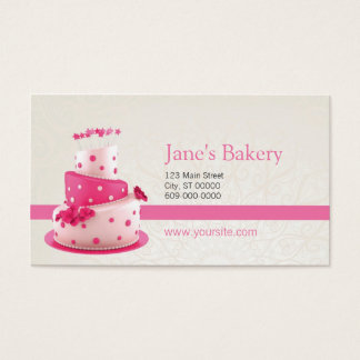Bakery Business Card Pink