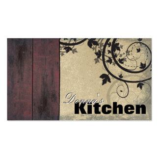 Bakery Business Card - Vintage Barn Board & Vines