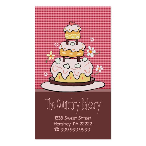 Bakery Business Cards (front side)