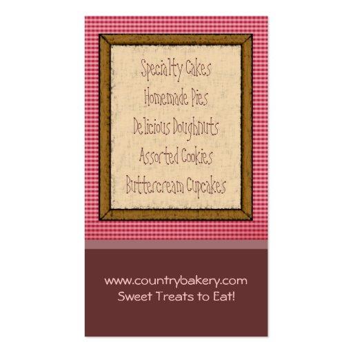 Bakery Business Cards (back side)