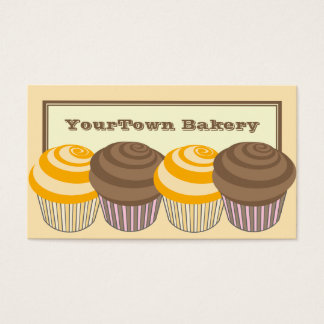 Bakery Business Cards -Orange & Chocolate Cupcakes