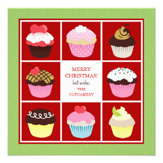 Bakery Business Christmas Cards Invite