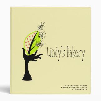 Bakery Business Corporate Branding Design Set Vinyl Binders