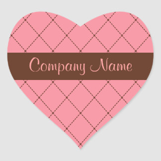 Bakery Business Heart Stickers