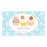 Bakery Cafe Retro Sweet Cupcakes Cute Boutique Business Card