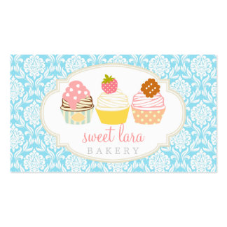 Bakery Cafe Retro Sweet Cupcakes Cute Boutique Double-Sided Standard Business Cards (Pack Of 100)