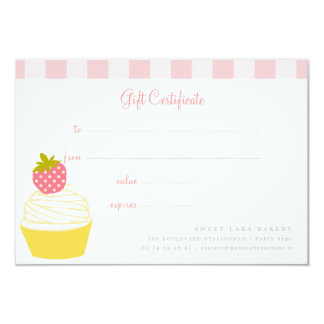 Bakery Cafe Retro Sweet Cupcakes Cute Gift Card