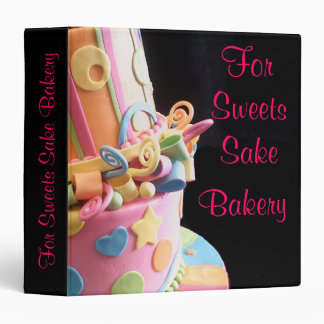 Bakery cake business personal binder colorful yum