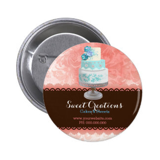 Bakery Cake Business Sweet Creations Pinback Button