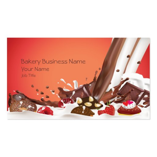 Bakery Cakes Business Business Card (front side)
