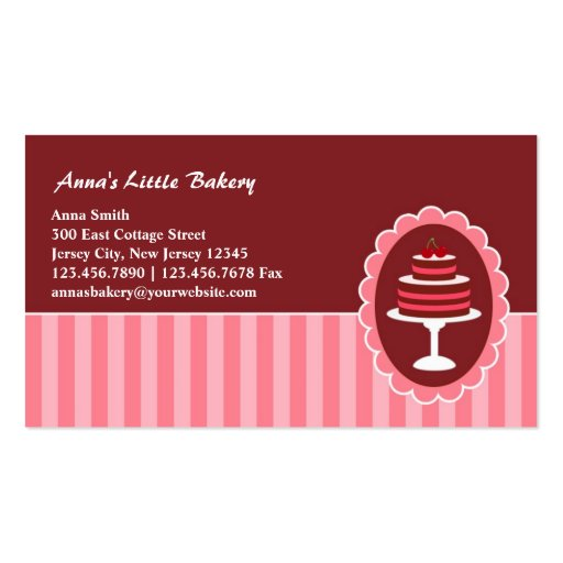 Bakery Cakes Business Cards (front side)