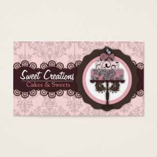 Bakery sweets business cards templates zazzle bakerycakessweets creations business card colourmoves