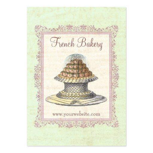Bakery, Candy Shop, Elegant Vintage Large Business Cards (Pack Of 100)