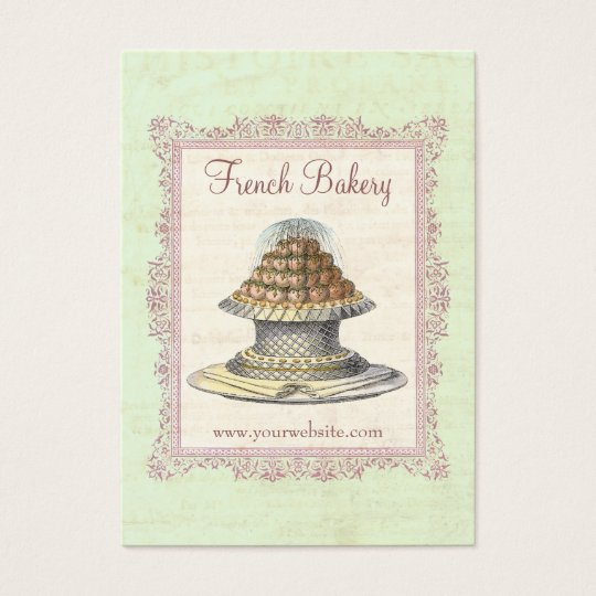 Bakery, Candy Shop, Elegant Vintage Business Card