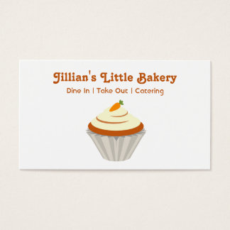 Bakery Carrot Cupcake Business Card