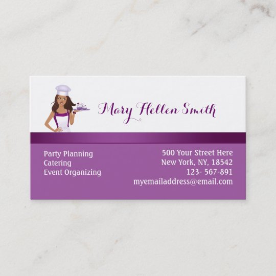 Bakery cater party planner business card template zazzle bakery cater party planner business card template wajeb Image collections
